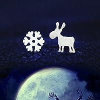 KLUMA ピアス スノーフレーク 鹿 クリスマス 可愛い 美人 きれい 美しい 魅力 プレゼント ガールフレンド 恋人 バレンタインデー 文芸 かわいい s925