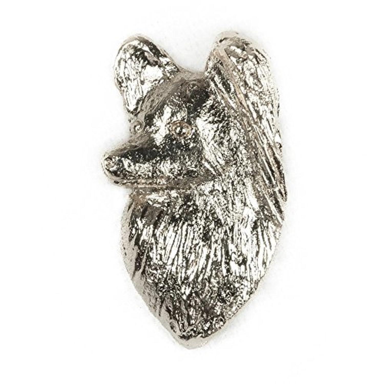 パピヨン(ヘッド?プロファイル) イギリス製 アート ドッグ ピンバッジ コレクション