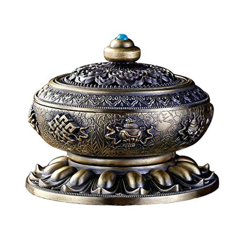 トレーダー流少なくともホームアロマバーナー ロータス亜鉛合金材料家庭用お香バーナープロセスお香バーナーホーム屋内お香ホルダーバーナー 芳香器アロマバーナー (Color : Bronze)