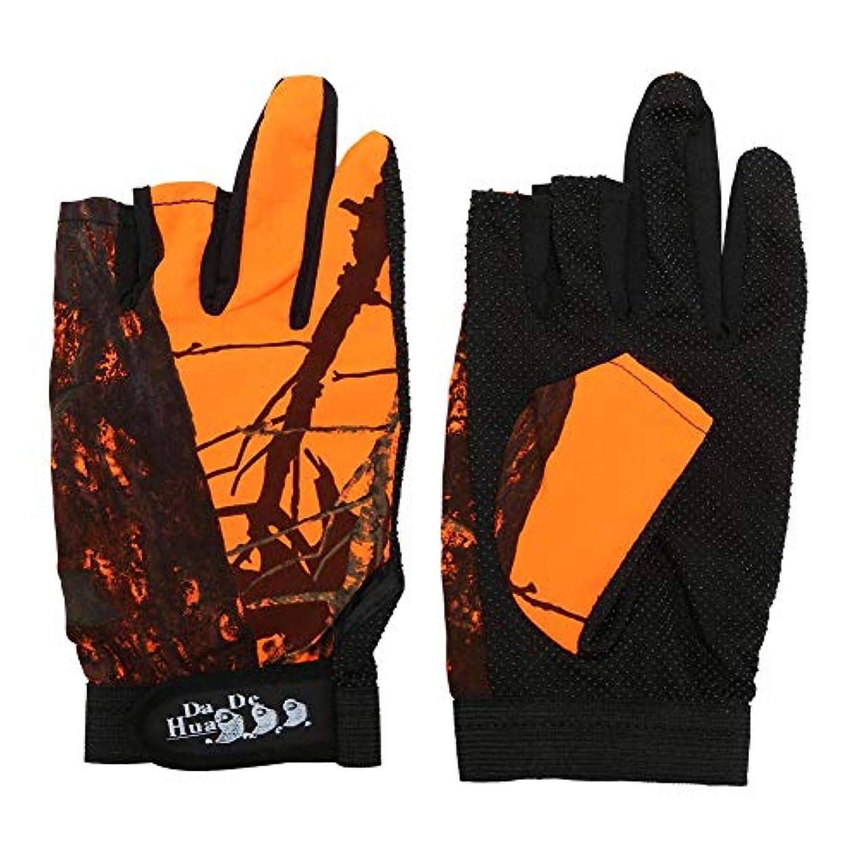 k-outdoor フィッシンググローブ 手袋 通気性 滑り止め 指 3本出し 釣り 迷彩