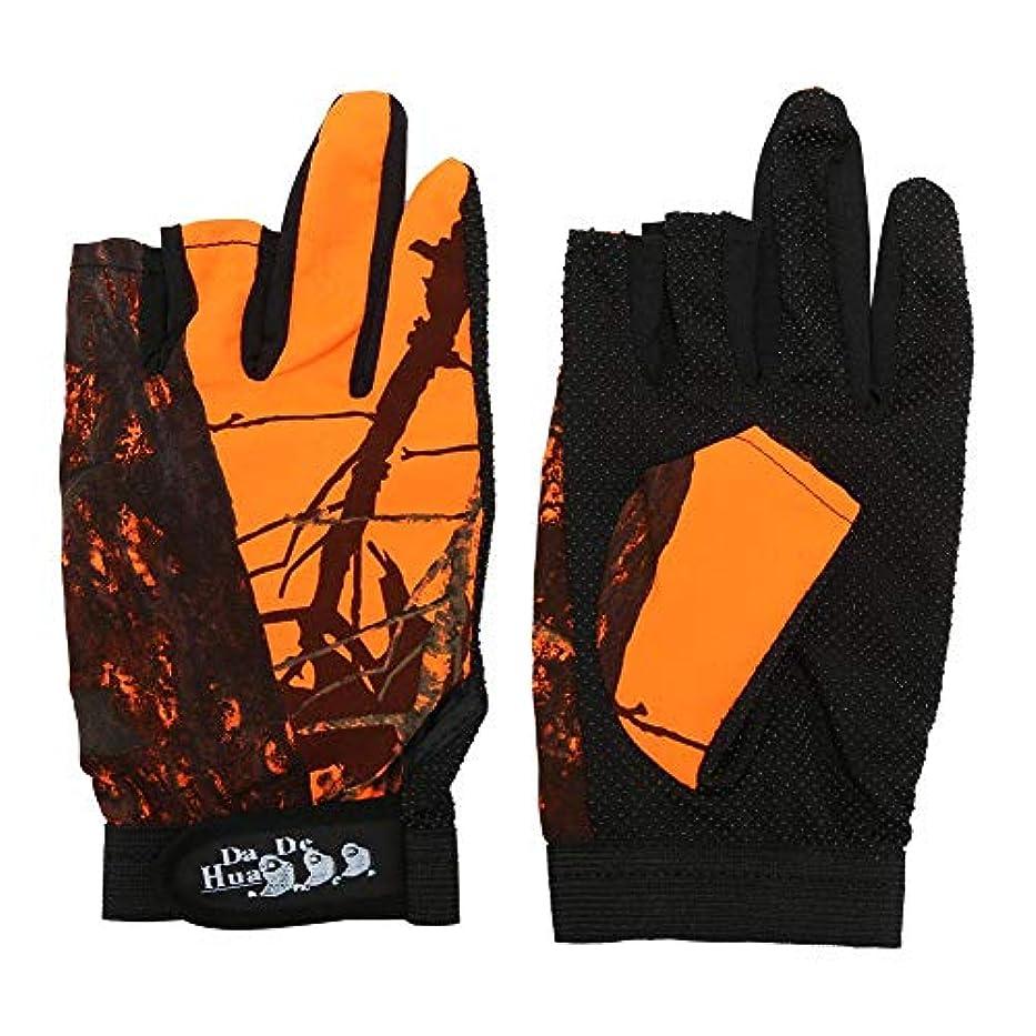 直感遺伝的スポークスマンk-outdoor フィッシンググローブ 手袋 通気性 滑り止め 指 3本出し 釣り 迷彩