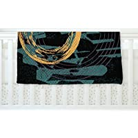KESS InHouse Micah Sager Weekend Teal Orange Fleece Baby Blanket 40 x 30 [並行輸入品]