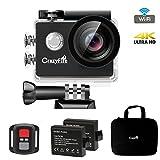 CrazyFire フルHD水中カメラ 170度広角レンズ アクションカメラ ワイヤレス 4K スポーツビデオ 空撮 2.0インチ液晶画面 リモコン付き 30M防水 アクションカメラセット(豊かなアクセサリー付き)