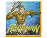 (16-Count, Lunch Napkins) - Aquaman Lunch Napkins, 16-Count
