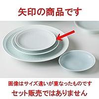 青白瓷 平型菊彫6.0皿 [ 18.7cm 450g ] 【 和皿 】 【 料亭 旅館 和食器 飲食店 業務用 】