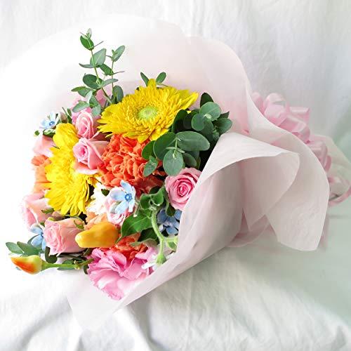 花 生花 フラワー お祝い 花束 誕生日プレゼント 花 女性 フラワーギフト (花束40㎝ 3,240円 最短でお届け)