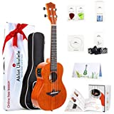 Ukele Tenor Uke Electric 26 Inch Solid Mahogany Ukelele For Beginners With Free Online Lesson 8 Packs Uke Accessory ( Gig Bag Picks Tuner Strap String Cleaning Cloth Instruction Book Gift Box )