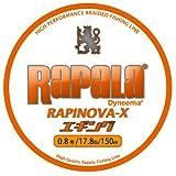 ラパラ(Rapala) ラピノヴァX エギング 150m 0.8号 17.8lb ホワイト/オレンジ Rapinova-X Egi 150M . RXEG150M08WO