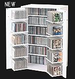 CDラック 収納名人 ホワイト CD約454枚収納 日本製
