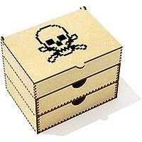 Azeeda 'Pixel Skull'化粧ケース/化粧箱(VC00016469)