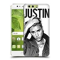 オフィシャル Justin Bieber Calendar ブラック&ホワイト Purpose ハードバックケース Huawei P10 Plus
