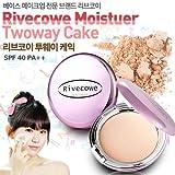 Rivecowe Moisture Twoway Cake (Foundation + Powder) SPF40PA++ 12g (No. 21 Natural Beige) [並行輸入品]