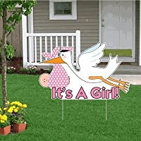 it s a girl announcement kit lt stork yard sign baby on board