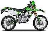 エムディーエフ(MDF) グラフィックキット リアフェンダーセット アタッカーモデル ライムグリーン KLX250(98-04) MKLX2-A-GR-RF