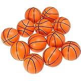 LIOOBO 12ピースミニ泡スポーツボールスクイズ泡バスケットボールストレスボール用キッズパーティーの好意(オレンジ)