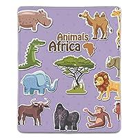 マウスパッド ゲーミングマウスパッド 滑り止め 18X22 厚い 耐久性に優れ かわいいアフリカ動物ステッカー漫画 おしゃれ