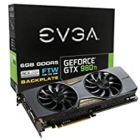 EVGA GeForce GTX 980 Ti 6GB FTW GAMING ACX 2.0+, Whisper Silent Cooling w/ Free Installed Backplate Graphics Card 06G-P4-4996-KR [並行輸入品]