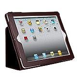 初代iPad 第1世代 専用 カバーケース 高級PUレザータイプ本体保護カバー (ブラウン)