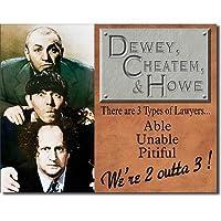 デューイ、Cheatum & Howe Tin Sign、16x 13byポスター割引