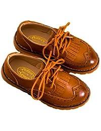 [(ハジメハジメ) hazime×hazime] キッズ フォーマル シューズ ウィングチップ プレーントゥ 子供 靴