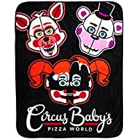 Five Nights At Freddy 's : Sister場所Circus赤ちゃんのピザWorld Throw Blanket