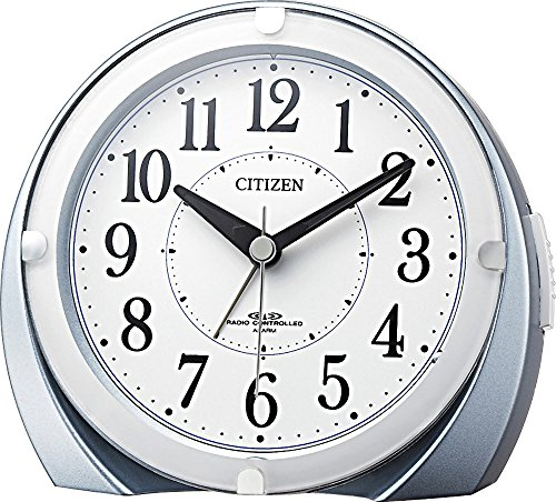 CITIZEN (シチズン) 電波 目覚まし 時計 ネムリーナマロンF ブルーメタリック色 4RL431-N04