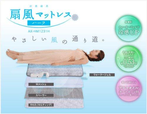 涼感寝具 扇風マットレス ハーフ AX-HM1231H ハーフ -