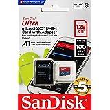 【5年保証】microSDXC 128GB SanDisk サンディスク UHS-1 超高速U1 FULL HD アプリ最適化 Rated A1対応 専用SDアダプ付 [並行輸入品]
