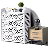 15 Pairs 5 Tiers White Hollow Shoe Rack Cabinet Stand Storage Organiser Shelf Units