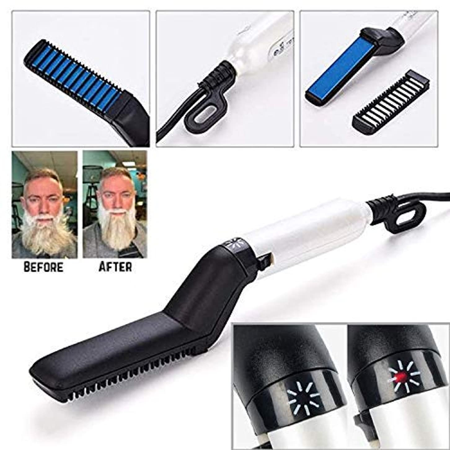 ブルーム作りロープMultifunctional fast beard straightener straight hair styling comb [並行輸入品]