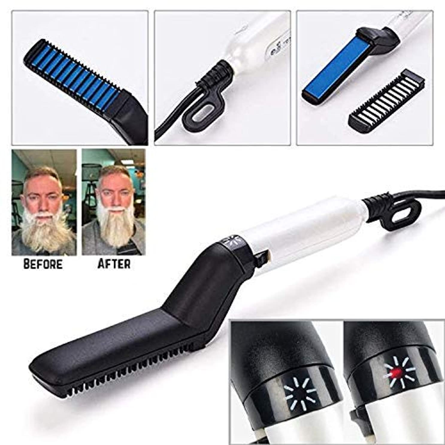 商標決済受益者Multifunctional fast beard straightener straight hair styling comb [並行輸入品]