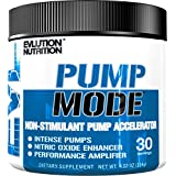 Evlution Nutrition Pump Mode Nitric Oxide Booster To Support Intense Pumps Performance And Vascularity, 30 Servings (Unflavored)