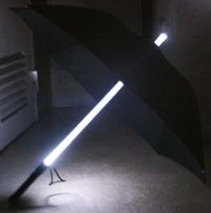 Rain-Glo LEDライトアップ傘 ブラック UERGAD-BK