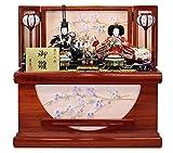 雛人形 収納飾り ひな人形 豊秀作 桜刺繍収納箱 S2-13698A