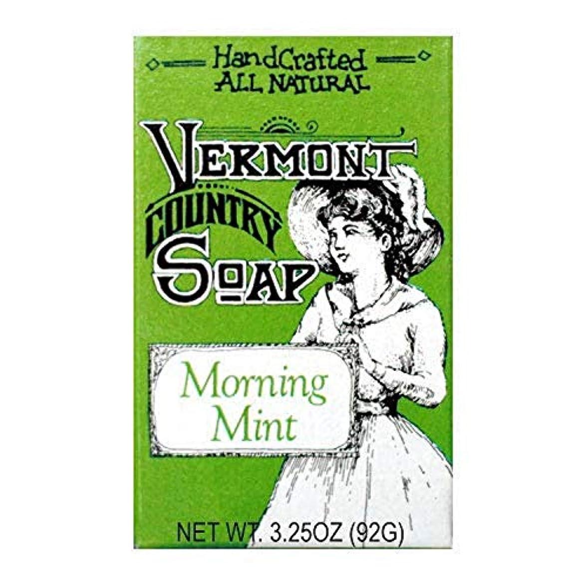 深さ栄光誠意バーモントカントリーソープ (モーニングミント) オーガニック石鹸 洗顔 92g
