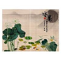 CHAXIA 竹ロールスクリーン竹はウィンドウシェードを竹すだれ竹製カーテン カーテン バックグラウンド 勉強部屋 デコレーション 断つ サンバイザー カバーライト 2つの様式、 マルチサイズ、 カスタマイズ可能 (色 : A, サイズ さいず : 135x175cm)