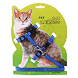 OUYOU 牽引ロープ 猫 リード 首輪 胴輪 胸あて式 ハーネス 散歩 ソフト 軽量 吸汗速乾 簡単脱着式