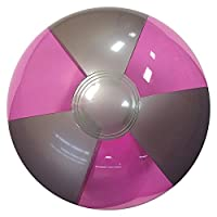 Beachballs - 16'' Translucent Purple & Silver Beach Ball