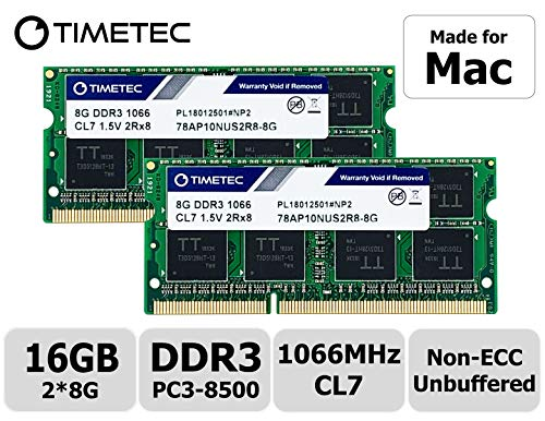 Timetec Hynix IC 16GB Kit (2x8GB) Mac用 DDR3 PC3-8500 1066 MHz Apple 専用増設メモリ 永...