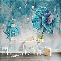 Mingld ダマスク織シルク3D壁画用壁紙リビングルームホームセンターの装飾現代の3D壁紙背景壁絵画紙-200X140Cm