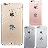 iPhone6 iPhone6S 対応 ハード クリア ケース 保護フィルム付 ブルーインパルス