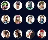 Datechip 12+WAY バンダナ 多機能チューブ型 帽子 フェイスマスクマジックスカーフ リストバンド ネックウォーマー サイクリング アウトドア UV シールドー ペイズリー柄