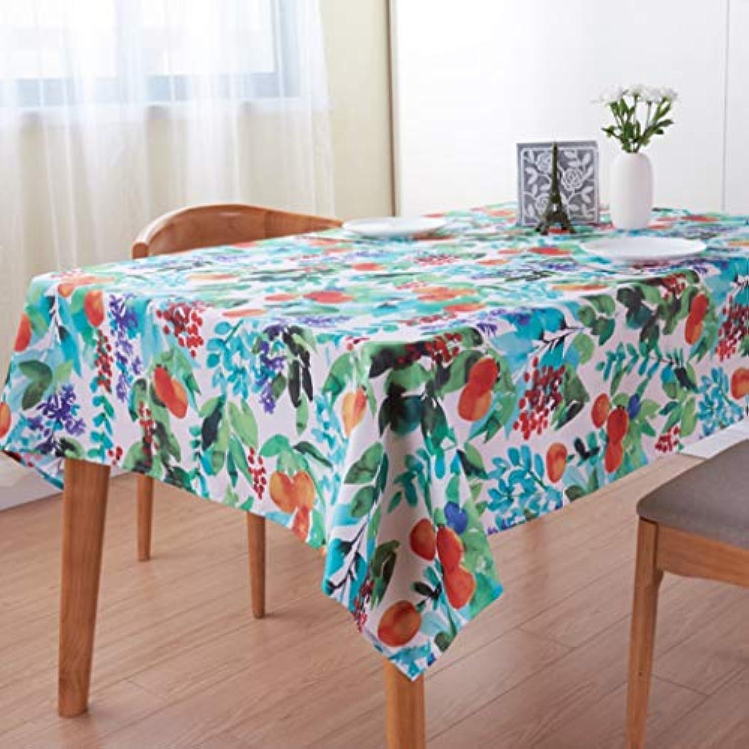 波番号スプリット緑の牧歌の防水ポリエステルプリントのテーブルクロス、長方形のホームレストランのテーブルクロス140cm * 200cm テーブルクロス-11.8