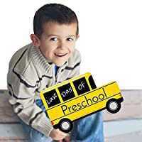 Preschool - Last Day of School Bus Sign - Photo Prop [並行輸入品]