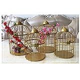 黄金のレトロな創造的な鳥かごの装飾、窓/結婚式の小道具鳥かごの花スタンド、クリスマスギフトの装飾