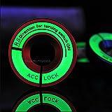 発光グロー点火スイッチ装飾キーリングステッカー用シュコダオクタファビアイエティフォルクスワーゲンパサートボラpoloゴルフ6ジェッタmk5 mk6-赤い