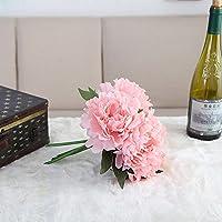 Vocodada 牡丹 ボタン 芍薬 アジサイ 造花 花束 ブーケ アートフラワー 結婚式 花嫁ブーケ インテリア ホームデコ パーティ 撮影 などに 選べる6色