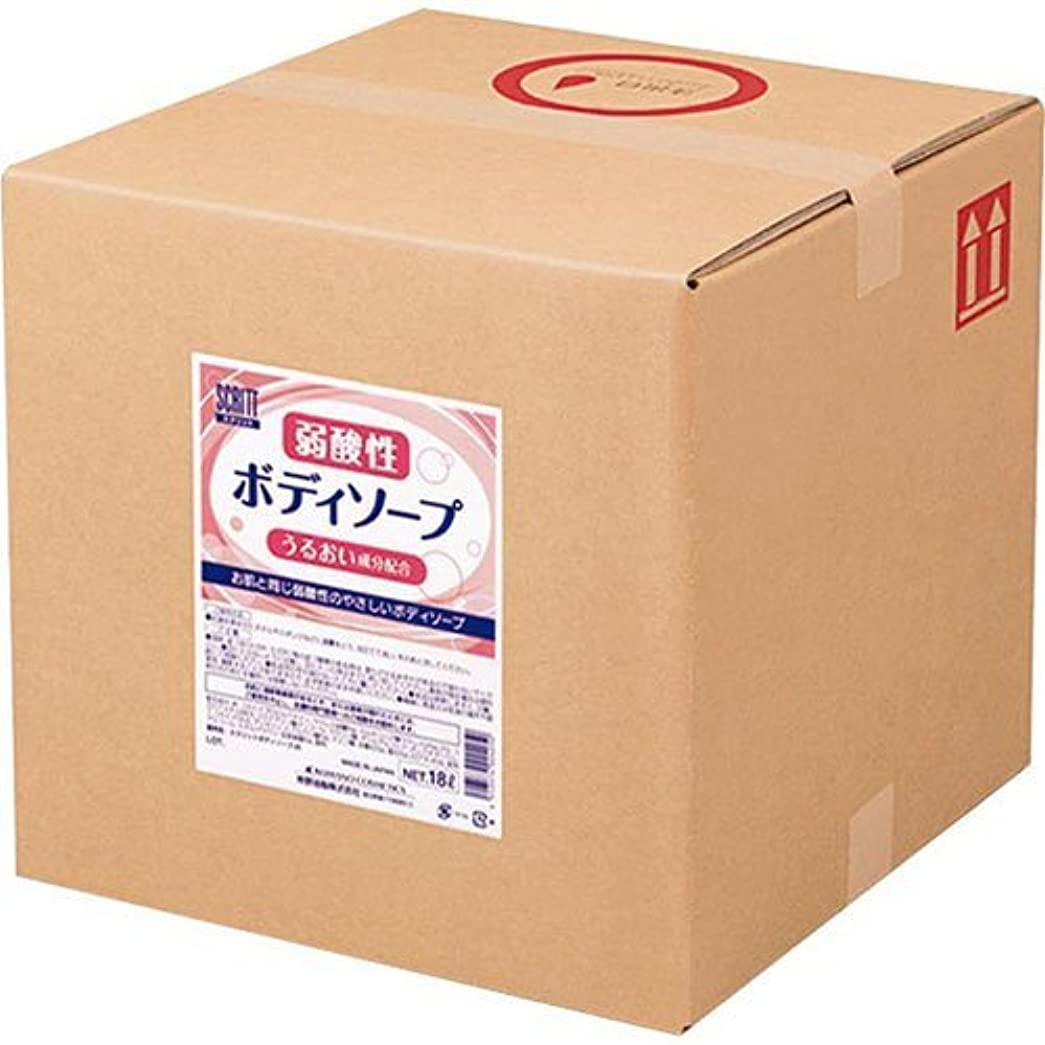 ケイ素系統的空気熊野油脂 業務用 SCRITT(スクリット) 弱酸性ボディソープ 18L