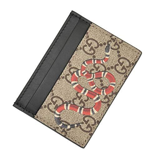 (グッチ) Gucci DIONYSUS ディオニュソス メンズ キングスネークプリント カードケース ベージュブラウン系 [並行輸入品]