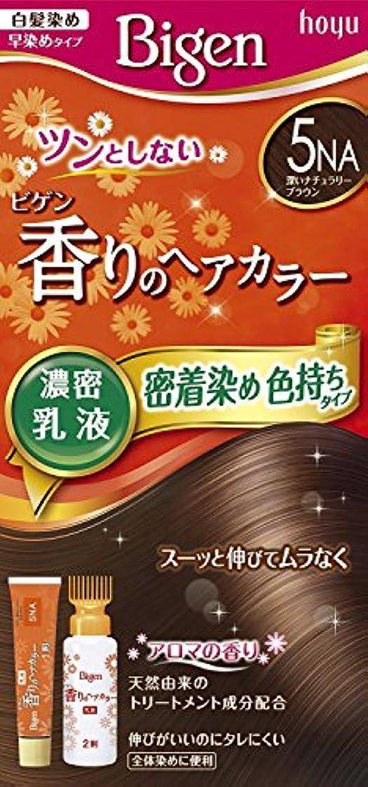 複雑でないジョグ前件ホーユー ビゲン香りのヘアカラー乳液5NA (深いナチュラリーブラウン) ×6個